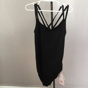 Sansha Signature Black Dance Leotard 14-16 NWT